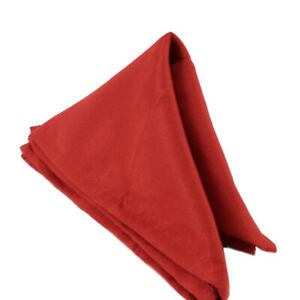 Plain Polyester Napkins Soft Lightweight Fabric Wedding Events Table Decor