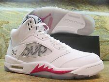 Nike Air Jordan 5 V Retro SUPREME SZ 10.5 White Varsity Red Bulls 824371-101