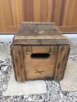 Vintage Wooden Beer Crate Rahr Brewing Oshkosh Wisconsin Wood Brewery Box