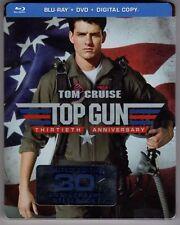 Top Gun (Blu ray + DVD + Digital Steelbook 2016 - Tom Cruise 30th Anniversary