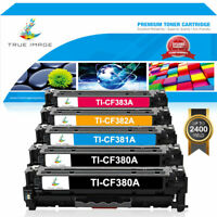 5 Pack Toner Compatible for HP 312A CF380A LaserJet Pro MFP M476nw M476dn M476dw