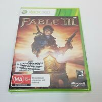 FABLE III (Microsoft XBOX 360) PAL Video Game NEW + SEALED