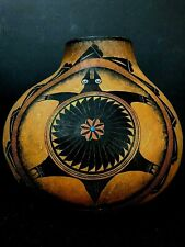 Gourd Art Hand Painted With Jewels Signed By Artist Robert Rivera Large Size