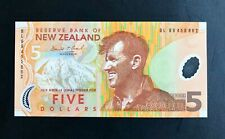New Zealand 2015, UNC Polymer Banknote 5 Dollars, P-191