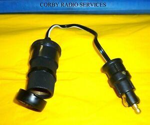 HELLA DIN PLUG TO FREE UK CAP SOCKET 7.5 amps CRS 12V/24V HGV BMW MOTOR BIKE