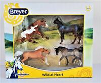Wild At Heart Breyer Stablemates 4-Horse Set