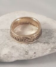 Coin Ring  - Crafted from British Brass Threepence - make a custom order