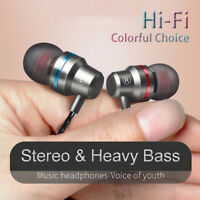 Wired earbuds noise cancelling stereo earphones heavy bass sound sport headse Hw