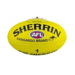 Sherrin Mini AFL Ball Synthetic Size 1 Auskick - Yellow