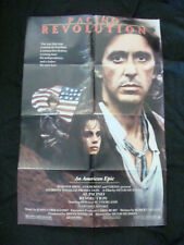 REVOLUTION movie poster AL PACINO NASTASSJA KINSKI Original 1985 One sheet