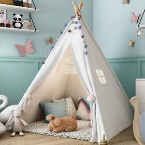1.8m Children's Teepee Tent Kids Indoor Outdoor Tipi Play House Wigwam Tent
