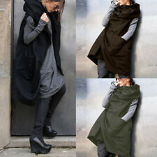 UK 10-24 Women Hooded Sleeveless Zipper Oversize Vest Waistcoat Outwear Jackets
