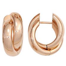 Echter Edelmetall-Ohrschmuck ohne Steine aus Rotgold für Damen