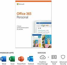 Microsoft Office 365 Personal 1 User 12 Month Licence Key 2020 Edition PC Mac