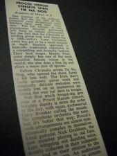 PROCOL HARUM Steeleye Span Tir Na Nog in New York 1972 music biz concert review