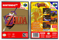 Legend of Zelda: Ocarina of Time - Nintendo 64 N64 Custom Case *NO GAME*