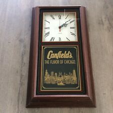 Vintage Canfield's Chicago Seltzer Water Soda Pop Clock Advertising Sign 1994
