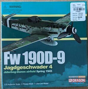 Dragon wings 1/72 Diecast Fw190D-9 Jagdgeschwader 4 1945 Model 50080  New