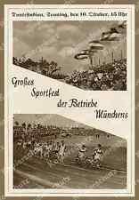 Reklame Leichtathletik Sportfest d. Betriebe Dantestadion München-Neuhausen 1938