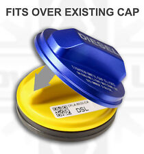 Alloy diesel fuel filler cap cover BLUE for Ford Fiesta Mk6 2002-08 Fusion