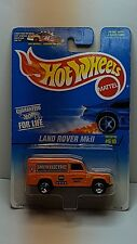 Hot Wheels Land Rover MkII #95528 New in Package 1996 Orange 3+ 1:64