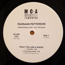 Rahsaan Patterson Treat You Like A Queen 12 Inch Vinyl Record PROMO 1999 MCA