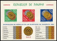 ✔️ PANAMA 1964 - OLYMPIC GAMES INNSBRUCK IMPERF - MI.BLOCK 28B ** MNH [PNB028Bb]