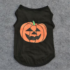 Pets Dogs Black Pumpkin Costumes Cotton Dog Shirts Puppy Clothes Halloween XS