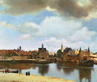 Jan Vermeer View Of Delft Fine Art Print on Canvas Reproduction HQ Giclee Small