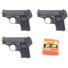 3 x DOUBLE EAGLE P328 SPRING AIRSOFT PISTOL HAND GUN With 1000 6mm BBs BB Black