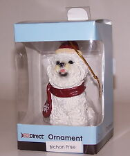 Bichon Frise Maltese or Havanese Puppy Dog Christmas Ornament Nib Sealed