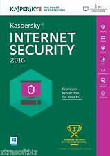 5 x Kaspersky Internet Security 2016 1PC/1year | DOWNLOAD | NO CD VAT inc.Price