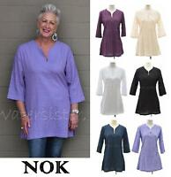 WATERSISTER Pintuck Cotton NOK Classic Thai  SIMPLY TUNIC  Top S - 4XL 6 COLORS