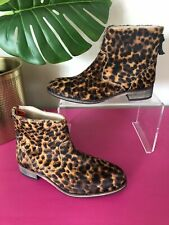 Stunning BODEN Leopard Print Pony Skin Leather Ankle Boots UK4/37 BNWOB RRP£140