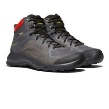 Keen Mens Explore Mid Waterproof Walking Boots - Grey Sports Outdoors Breathable