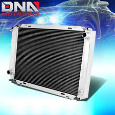 FOR 79-93 FORD PONY MUSTANG MT/MANUAL 3/THREE ROW/CORE ALUMINUM CHROME RADIATOR