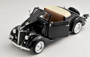 BLITZ VERSAND Ford Deluxe Cabrio 1936 black Welly Modell Auto 1:24 NEU OVP BOX
