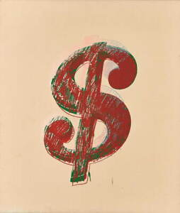 Andy Warhol Dollar sign Giclee Art Paper Print Paintings Poster Reproduction