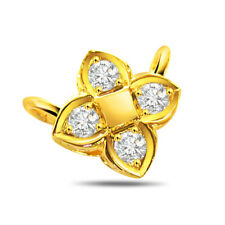 Pure love - Real Natural Diamond Pendant in 18kt Yellow Gold for your Love P85