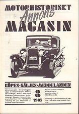 Motorhistoriskt Magasin Annons Swedish Car Magazine 8 1985 Volvo 032717nonDBE