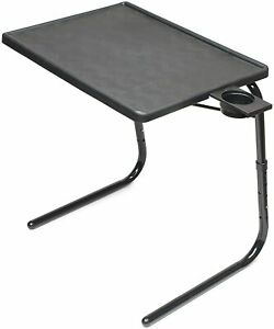 Table Mate II Folding TV Tray Laptop Table & Cup Holder With 6 Height & 3 Angle