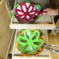 6pcs Ceramic Glass Cookware Divider Set Felt Dish Pan Pot Scratch Protector W