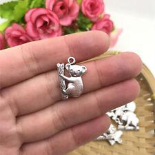 4 pcs Koala Bear Tibet silver Charms Pendants DIY Jewellery Making crafts