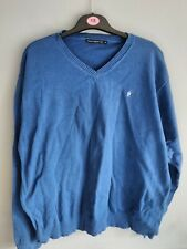 French Connection fcuk Men's XXL Blue V Neck Jumper