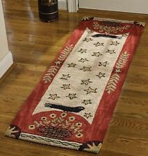 "FOLK CROW HAND HOOKED COUNTRY AREA RUG RUNNER By PARK DESIGNS LARGE 24""x72"""