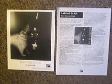 "RAGING SLAB ""SING MONKEY SING"" 1996 AMERICAN RECORDS PRESS KIT 1 PG.+ PUB. PHOTO"