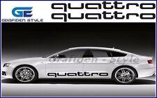 1 Paar AUDI QUATTRO  Auto Seiten Aufkleber - Sticker - Decal - Car !