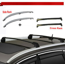 For 12-16 Honda CRV Roof Rack Side Rail+Cross Bars Bolt-On to Factory Hole Mount