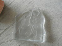 Vintage Glass Manger Scene Figurine Mary Jesus Joseph