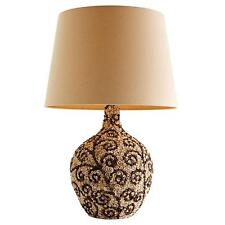 BEAUTIFUL FLORAL MOSAIC PATTERNED SEA SHELL CLUSTER LAMP W/ SHADE!!!!!